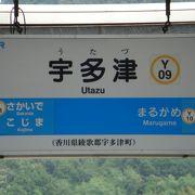 宇多津。JR予讃線の駅。
