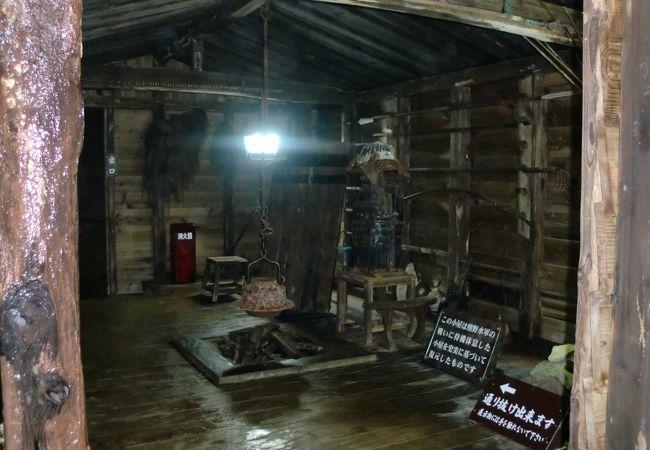再現された熊野水軍の小屋