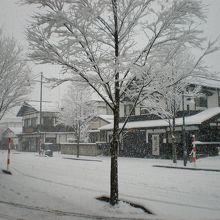ホテルの前の景色 角館武家屋敷の入り口