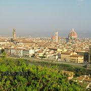 フィレンツェの街並みが一望できます