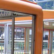遊園地の電車を思い出します。
