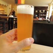 無濾過のちょっと濁ったビール