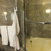 シャワールームがバスタブと一体