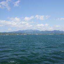 海のような湖です