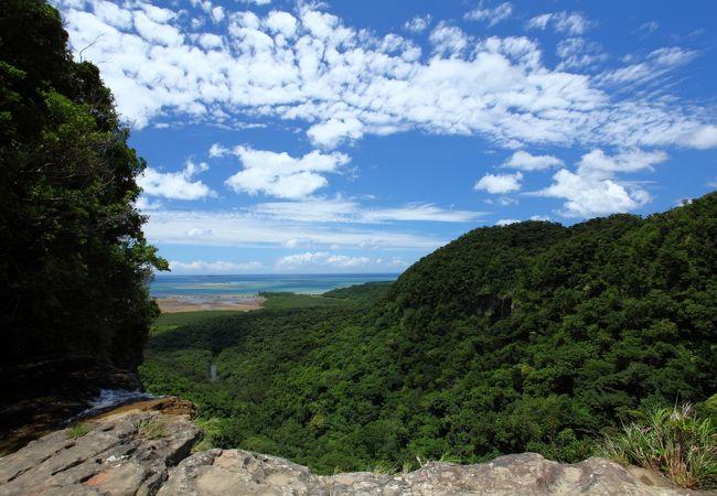 滝の上からの景色