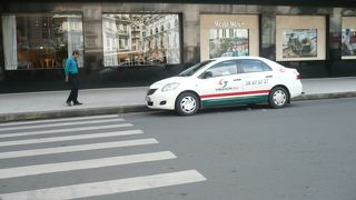 タクシーに乗ったら。