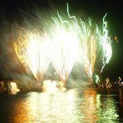 海上運航と花火の素晴らしさ