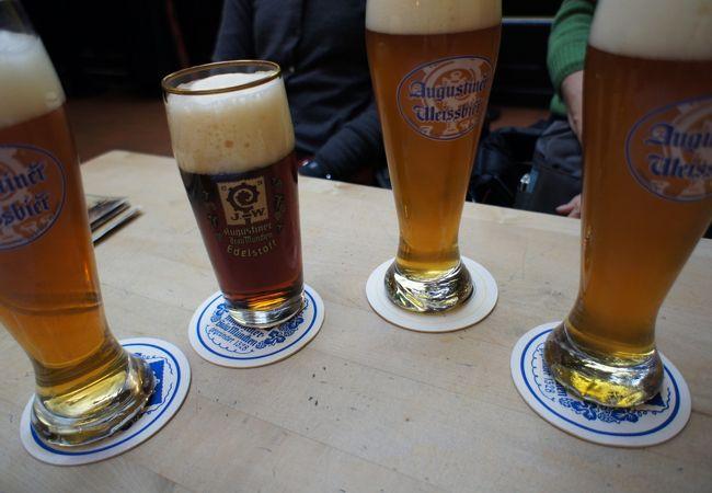 ビールは500mlが最小。