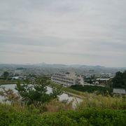 松山を一望できるSA