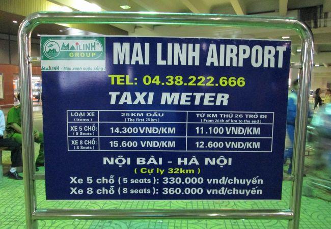 タクシー料金の看板