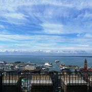 デンマークから船で20分のきれいな町