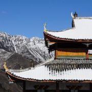 黄龍にあるチベット仏教寺院