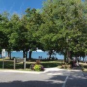 オンタリオ湖越しにトロントまで見える!  @クイーンズロイヤルパーク