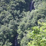 3段に分かれた滝です