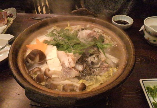 本日の魚のチリ鍋です。