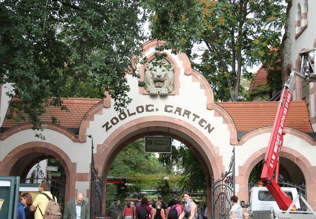 歴史ある大きな動物園