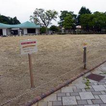 福島で最もクリーンな公園だと思うのですが、規制のロープが張ら