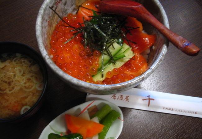 月岡温泉の中心で食べられるスペシャル丼