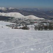 初心者から上級者まで楽しめるスキー場