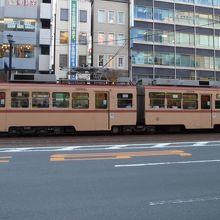 昔ながらの路面電車