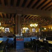 外観が有名なレストラン