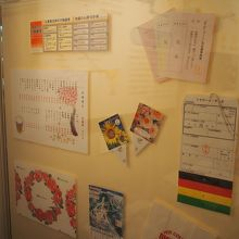 合成紙の展示