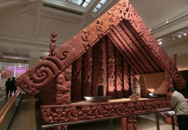 1F マオリ族の展示館の一部