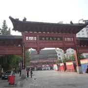 南京の秦淮河沿いの観光地