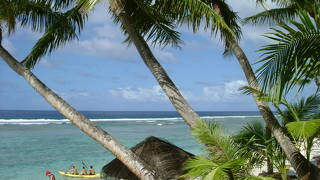 グアムで一番美しい海と白い砂浜とのんびりした時間