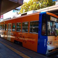 広電と呼ばれる路面電車です