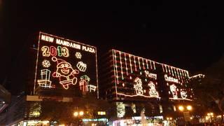 尖沙咀のクリスマスイルミネーション