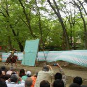 葵祭の流鏑馬神事