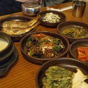 野菜中心の韓定食