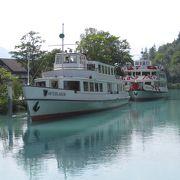 ゆったりとブリエンツ湖の遊覧船もいいものです