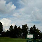 富士山の麓のゴルフ場