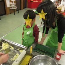 サンプル作り天ぷら