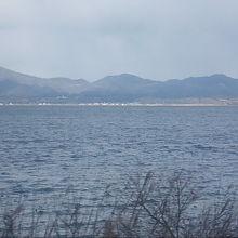 その名の通り、近くに宍道湖のビュースポットも多いです