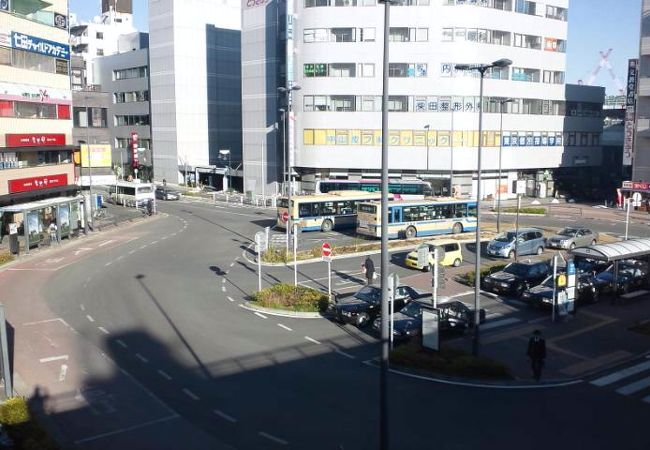 JR横浜線と横浜市営地下鉄の駅