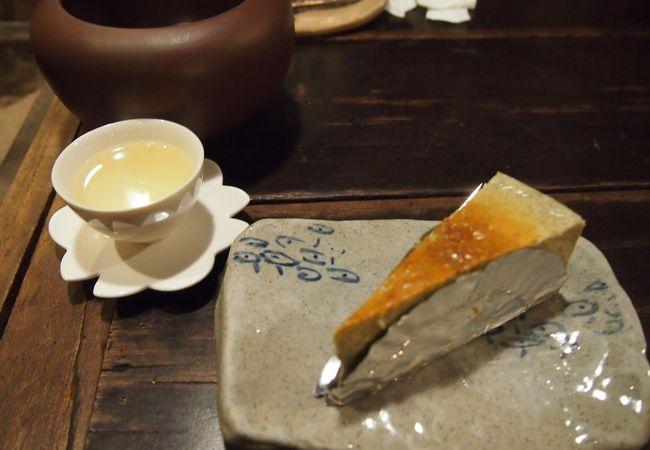 金盞茶と烏龍茶チーズケーキ