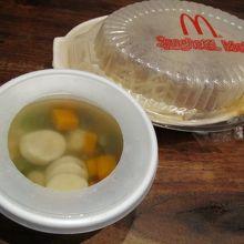 しょっぱいスープ。