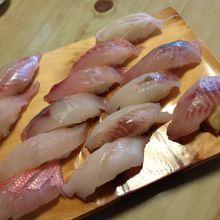 深海魚+地魚にぎり これで一人前