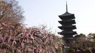 JR京都駅から見える塔が、これです