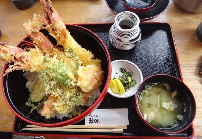 天丼と味噌汁☆