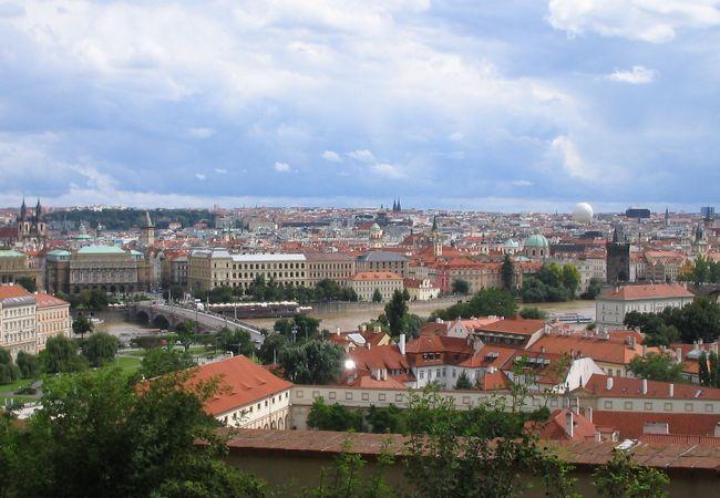 プラハ城から見た市街