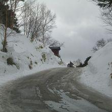 2013年2月3日・空吹付近の道路状況です?