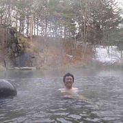 浮き島露天風呂
