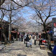 桜の時期は最高な宿場町です
