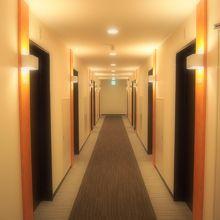 リノベーションされた廊下