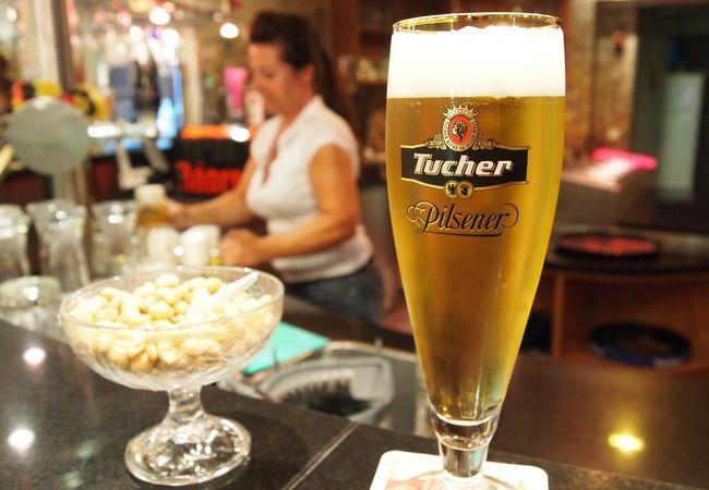 エキナカでニュルンベルクのご当地ビールを飲める幸せ。