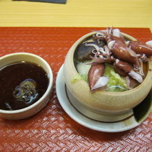 ホタルイカと白菜の煮物